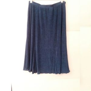 Chicos Travelers Teal Blue Skirt Size 3 (14-16)